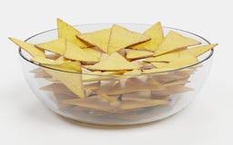 3D rendono dei chip di tortiglia Immagini Stock