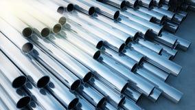 3D rendono dei tubi d'acciaio Fotografie Stock Libere da Diritti
