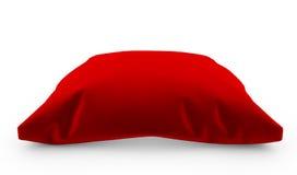 3d rendono del cuscino rosso reale del velluto isolato su fondo bianco illustrazione vettoriale