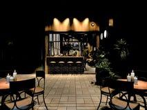 3d rendono del ristorante di lusso all'aperto Fotografia Stock