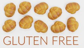 3D rendono dell'alimento libero del glutine Immagine Stock