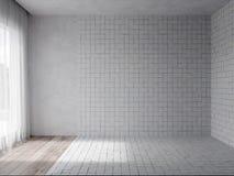 3d rendono dell'interno con Tulle trasparente fotografia stock libera da diritti