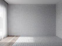 3d rendono dell'interno con Tulle trasparente fotografia stock