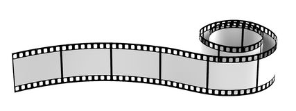 3d rendono della bobina di film Fotografie Stock