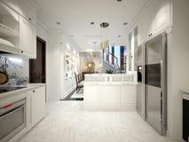3d rendono della casa moderna illustrazione vettoriale