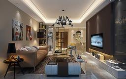 3d rendono della casa postmoderna illustrazione vettoriale