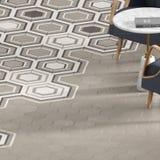 3d rendono della piastrella per pavimento beige con il modello Fotografie Stock Libere da Diritti