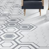 3d rendono della piastrella per pavimento bianca con il modello Fotografie Stock