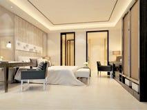 3d rendono della stanza di albergo di lusso Fotografia Stock Libera da Diritti