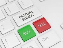 3d rendono della tastiera di computer con il bottone dei FONDI DI INVESTIMENTO MUTUALISTICI illustrazione di stock