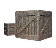 3D rendono delle casse di legno Fotografie Stock Libere da Diritti