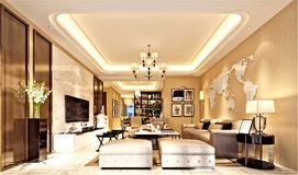 3d rendono di camera di albergo moderna Fotografie Stock