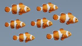 3d rendono di Clownfish Fotografie Stock