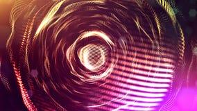 3d rendono di composizione multicolore astratta con profondità di campo e delle particelle d'ardore nello scuro con gli effetti d illustrazione di stock