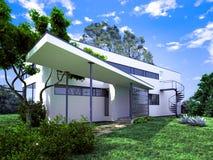 3d rendono di esterno di costruzione illustrazione vettoriale