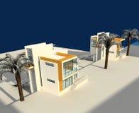 3d rendono di esterno della casa del villaggio royalty illustrazione gratis