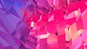 3d rendono di fondo geometrico astratto con i colori moderni di pendenza nel poli stile basso superficie 3d con rosso blu piacevo illustrazione vettoriale