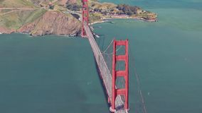 3d rendono di golden gate bridge illustrazione vettoriale