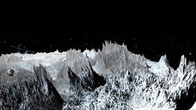3d rendono di paesaggio cosmico come fondo o ambiente Il pianeta dalla vista dello spazio dal veicolo spaziale molto ha dettaglia illustrazione di stock