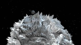 3d rendono di paesaggio cosmico come fondo o ambiente Il pianeta dalla vista dello spazio dal veicolo spaziale molto ha dettaglia royalty illustrazione gratis