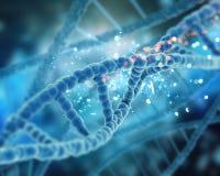 3D rendono di un fondo medico del DNA royalty illustrazione gratis