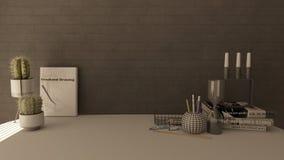 3D rendono di un Ministero degli Interni moderno immagini stock