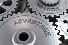 3d rendono di vantaggio competitivo dell'ingranaggio della ruota dentata illustrazione di stock