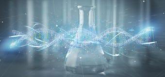 3d rendono il DNA su un fondo medico Immagini Stock