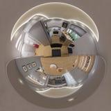 3d rendono il panorama senza cuciture 360 del salone Immagine Stock