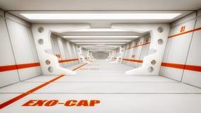 3d rendono Interno futuristico dell'astronave Fotografia Stock