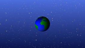 3d rendono l'animazione di filatura del mondo illustrazione vettoriale