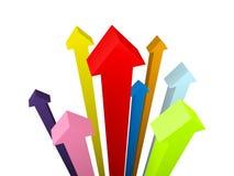 Frecce sul livello Immagine Stock