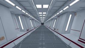 3D rendono l'interiore Corridoio futuristico Immagine Stock