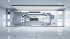 3D rendono l'interiore Corridoio futuristico royalty illustrazione gratis