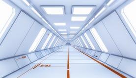 3D rendono l'interiore Corridoio futuristico illustrazione vettoriale