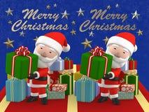 3D rendono lo stereogramma del Buon Natale Santa Claus Immagini Stock Libere da Diritti