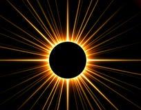 3D rendu a éclipsé le soleil Photos stock