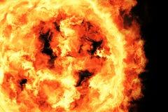 3d rendu, aérolithe, le feu flamboyant illustration libre de droits