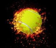 3D rendu, balle de tennis, photo stock