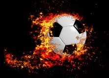 3D rendu, ballon de football, photo stock