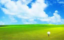 3D rendu, boule de golf, photos stock