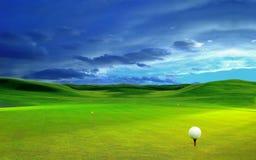3D rendu, boule de golf, photos libres de droits