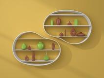 3d a rendu des étagères Image stock