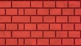 3d a rendu des briques illustration de vecteur