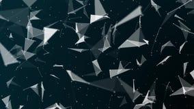 3d a rendu des formes abstraites de plexus Concept de connexion et de Web Fond de Digital, de communication et de technologie