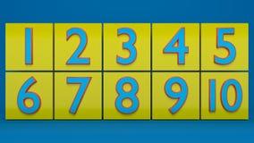 3d a rendu des nombres Photos libres de droits