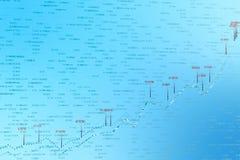 3d rendu, diagramme courant avec le fond bleu illustration stock