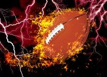 3D rendu, football am?ricain, image stock