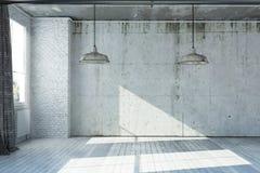 3D a rendu l'appartement vide Photographie stock libre de droits