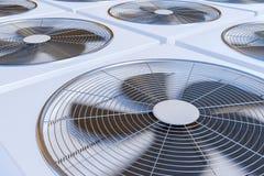 3D a rendu l'illustration de la chauffage, de la ventilation et de la climatisation d'unités de la CAHT Image libre de droits